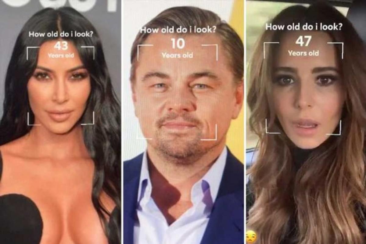 Trò nhìn mặt đoán tuổi là một sản phẩm từ AR filter - (Ảnh chụp màn hình)
