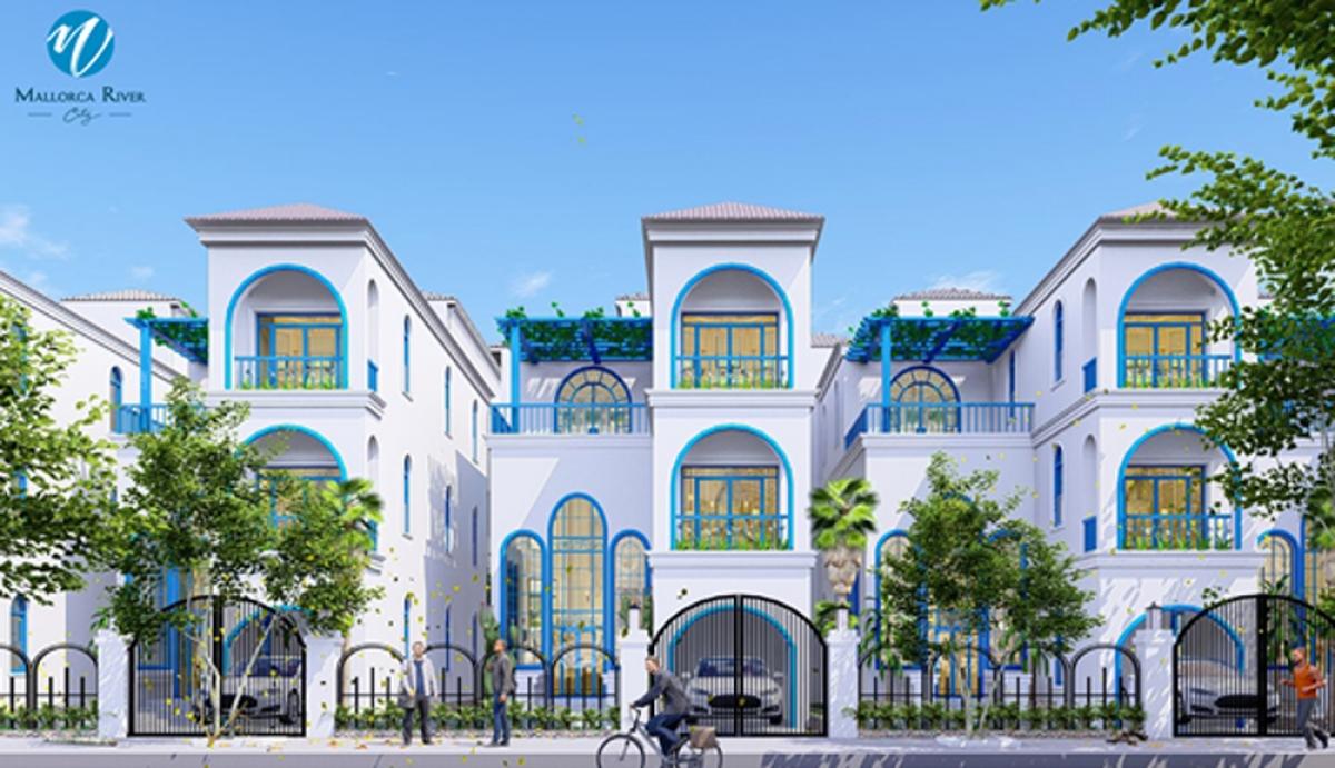 Phối cảnh khu biệt thự tại dự án Mallorca River City