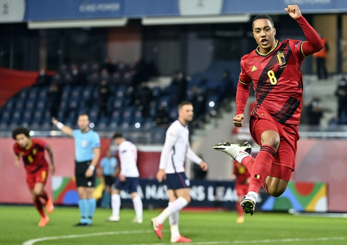 Tiền vệ: Youri Tielemans (Bỉ 2-0 Anh) – 8,1 điểm