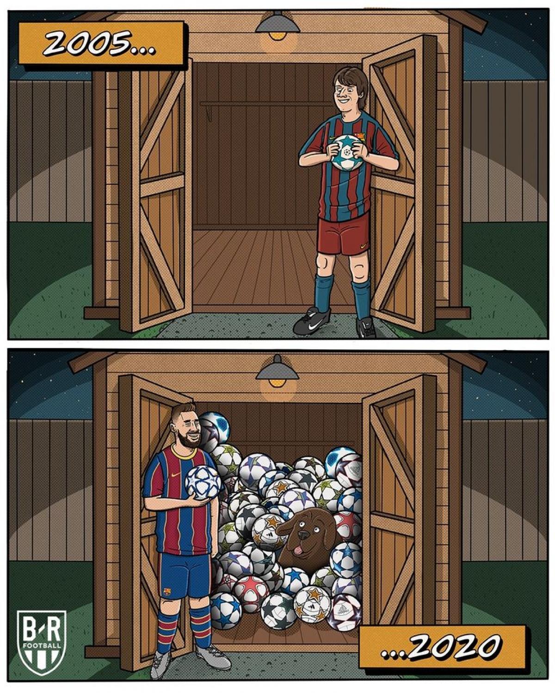 Bộ sưu tập đồ sộ của Messi ở Champions League sau 15 năm thi đấu./.