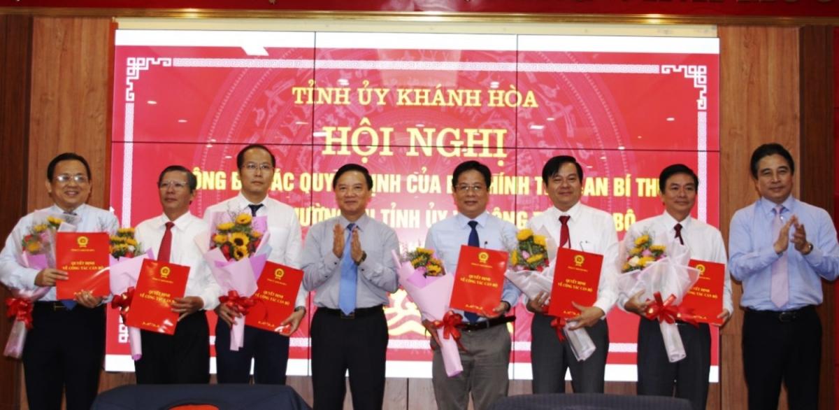Các Ủy viên Ban Thường vụ Tỉnh ủy Khánh Hòa được vừa được phân công nhiệm vụ.