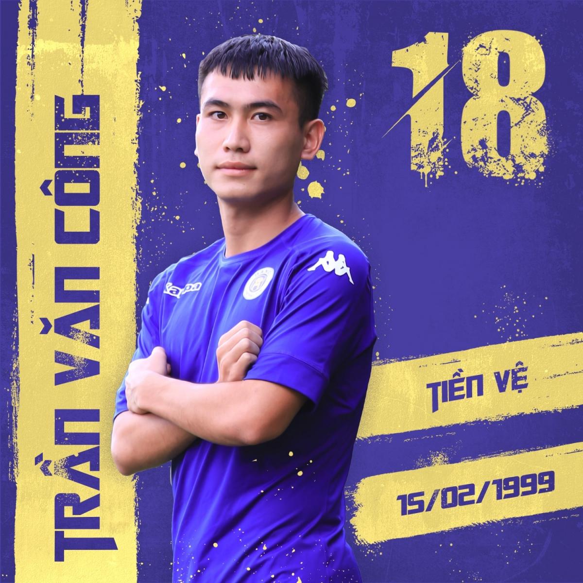 Tiền vệ: Trần Văn Công