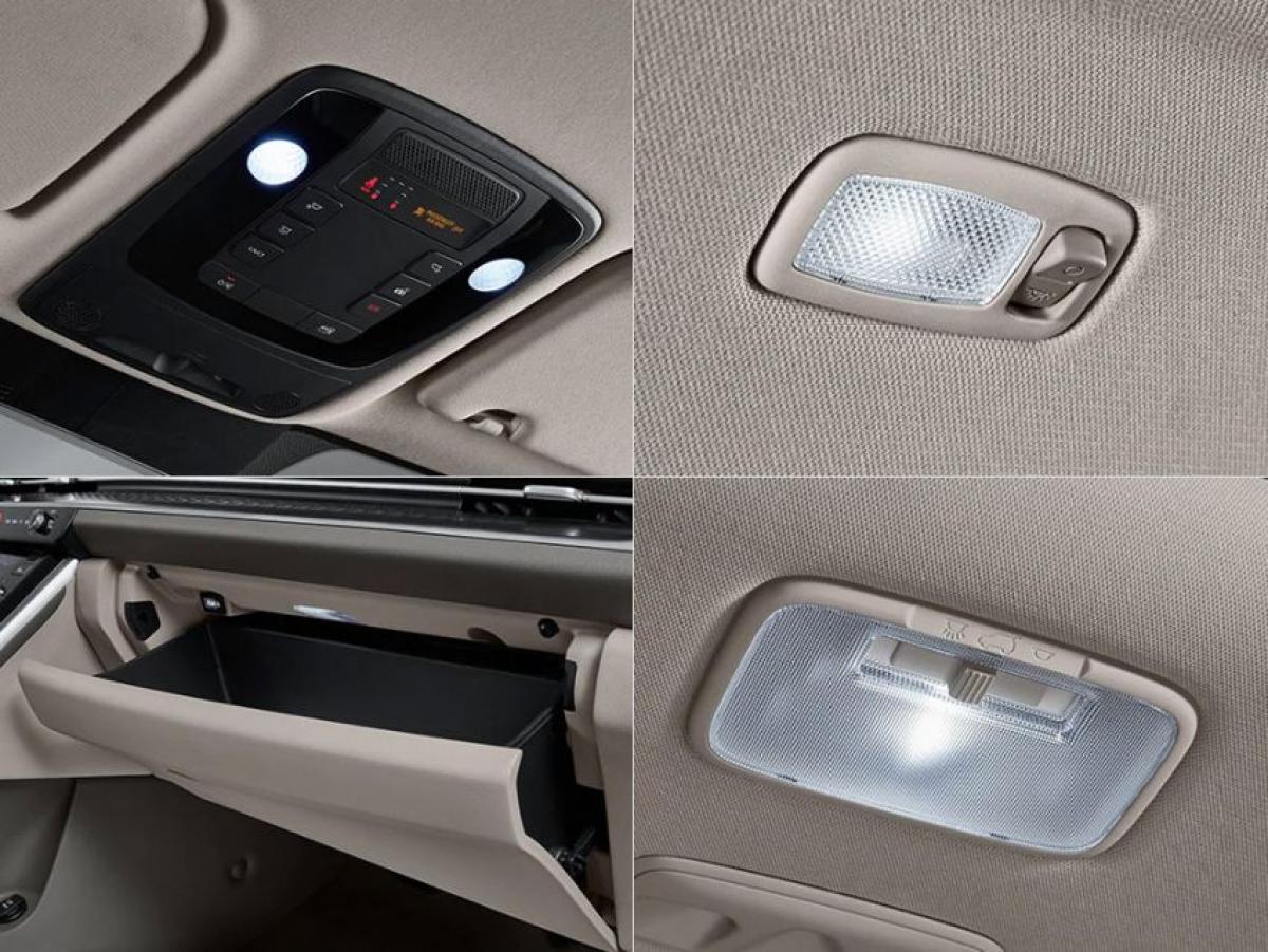 Bất kể là phiên bản mấy chỗ ngồi, cả hai phiên bản đều có chung một danh sách phụ kiện. Những tính năng tiêu chuẩn bao gồm đèn LED ngoại thất, mâm 19 inch, màn hình cụm đồng hồ kỹ thuật số Supervision 12,3 inch, hệ thống thông tin giải trí cảm ứng UVO 12,3 inch, hệ thống đèn chiếu xung quanh, bọc da Nappa, điều hòa khí hậu tự động với cửa gió gắn trên trần xe phía sau, và một máy lọc khí.