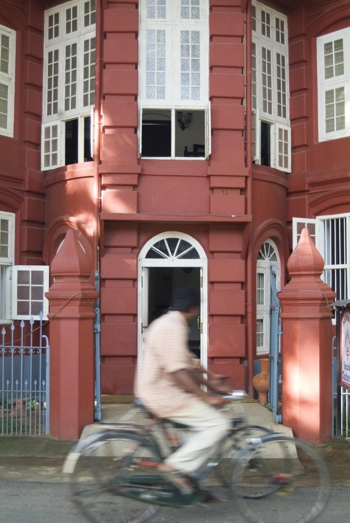 Một ngôi nhà kiến trúc Bồ Đào Nha ở Kochi, Ấn Độ.