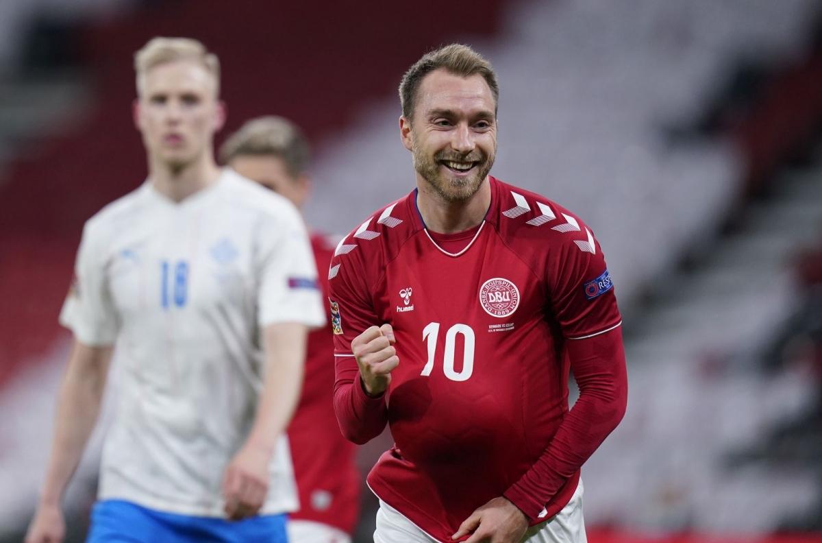 Tiền vệ: Christian Eriksen (Đan Mạch 2-1 Iceland) – 7,9 điểm