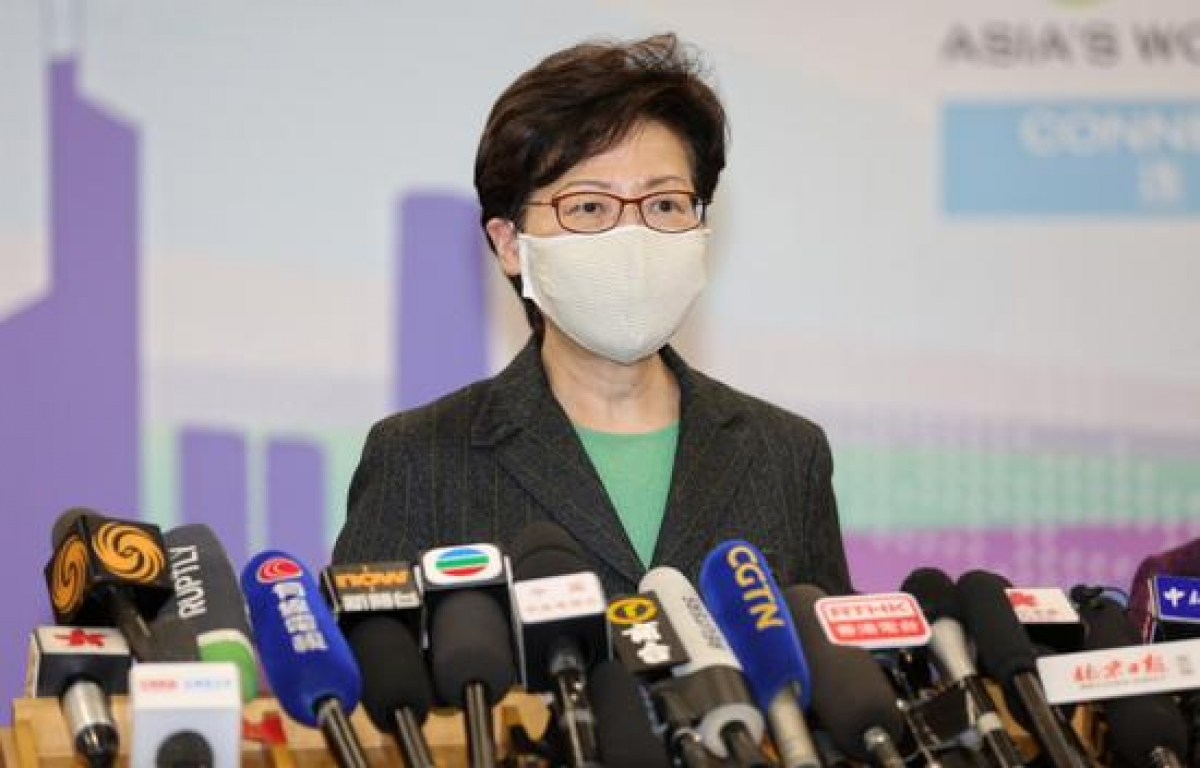 Bà Lâm Trịnh Nguyệt Nga tổ chức họp báo tại Bắc Kinh. Ảnh: Nhật báo Bắc Kinh