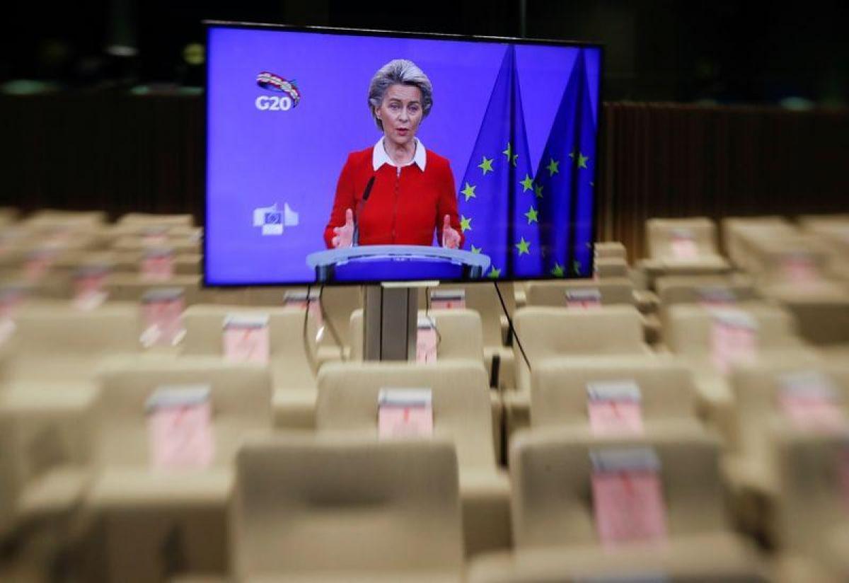 Chủ tịch Ủy ban châu Âu Ursula Von der Leyen. Ảnh: Reuters