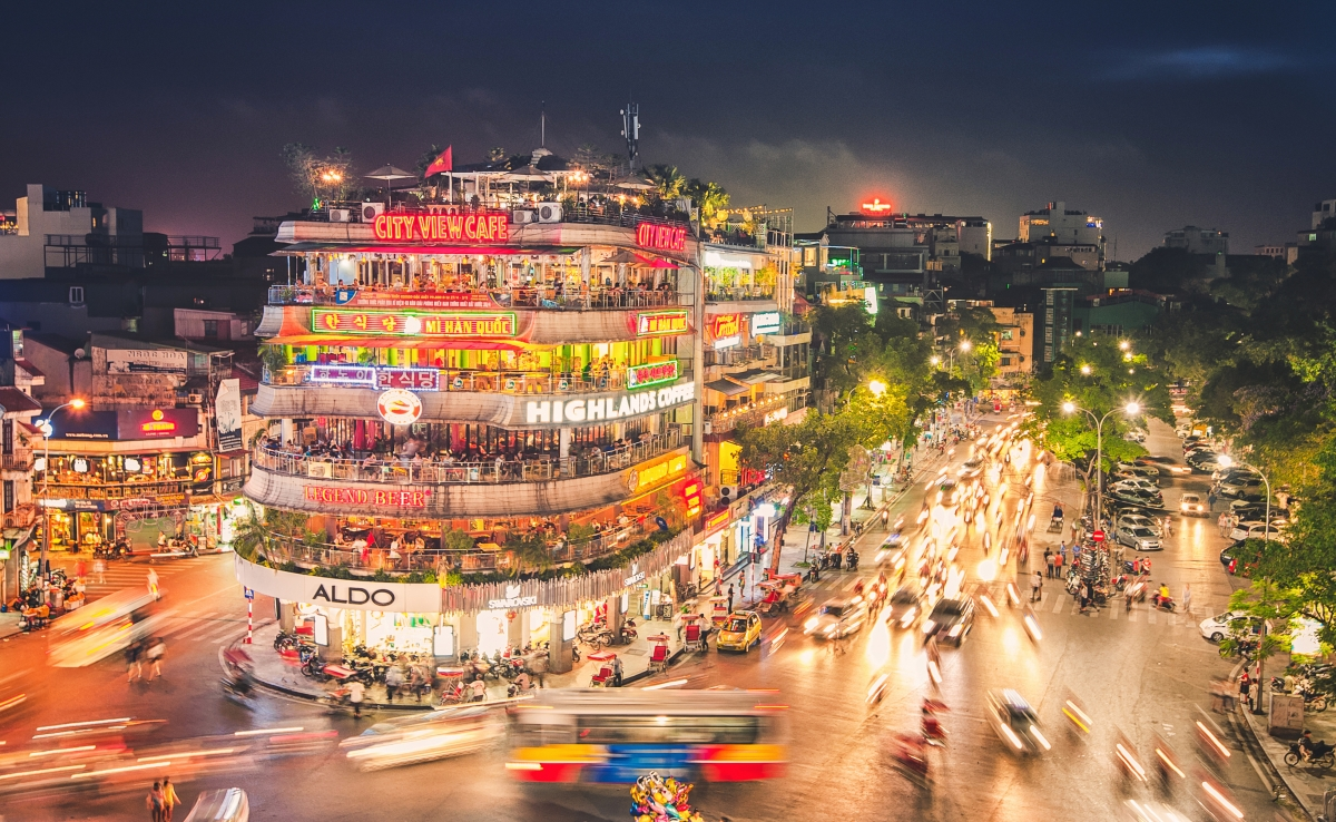 Hanoi capital is a bustling city in Vietnam