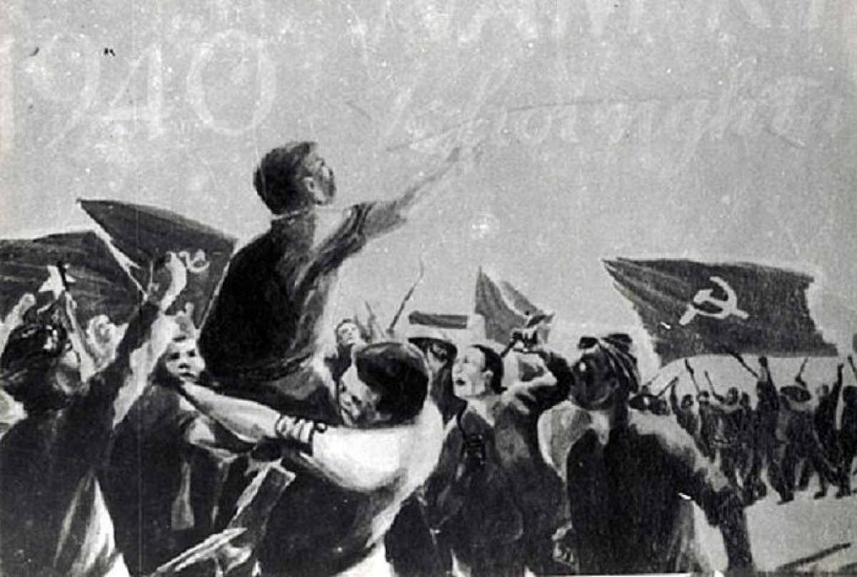 Khởi nghĩa Nam Kỳ năm 1940. Tranh vẽ minh họa.