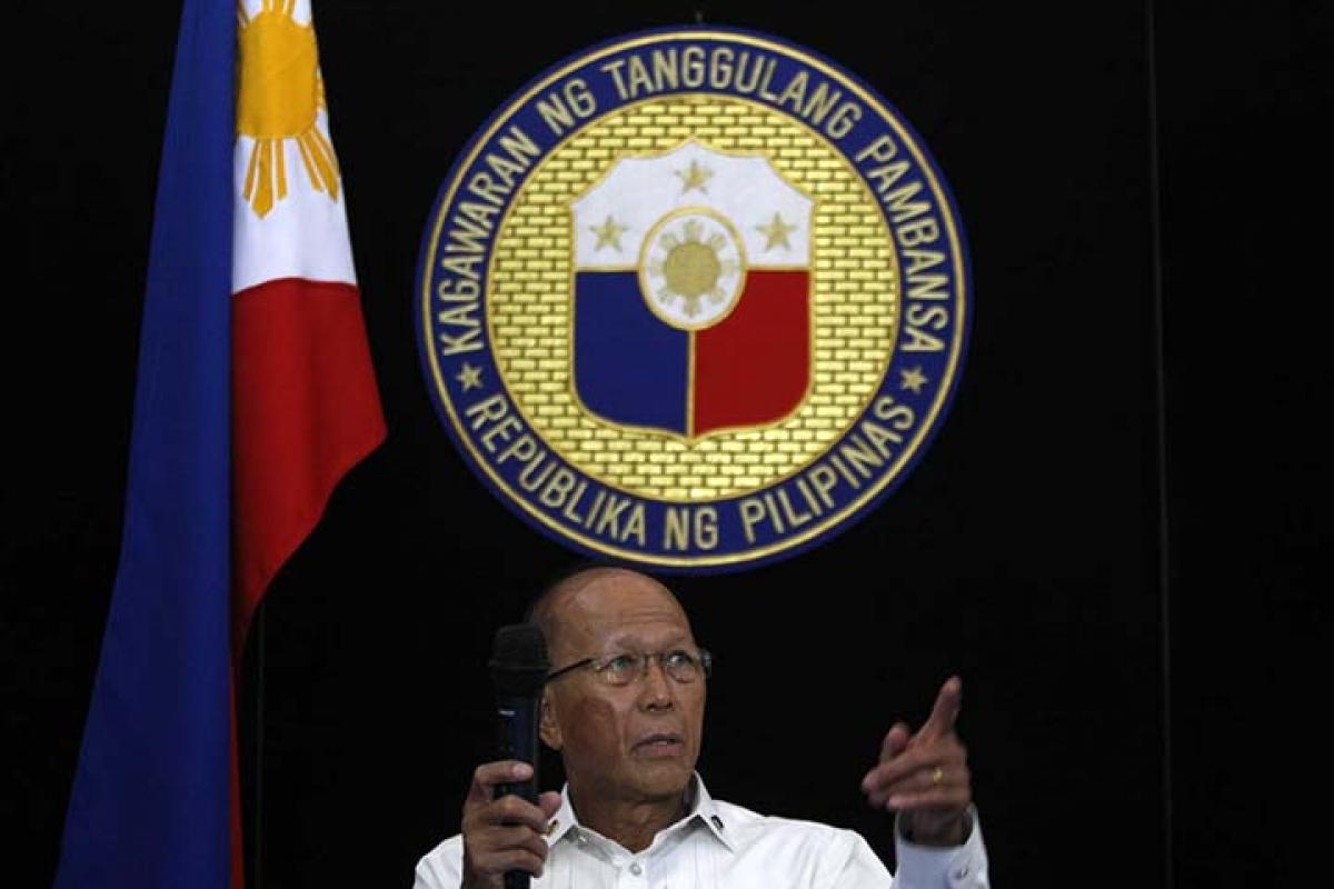 Bộ trưởng Quốc phòng Philippines Lorenzana. Nguồn: Manila Buletin