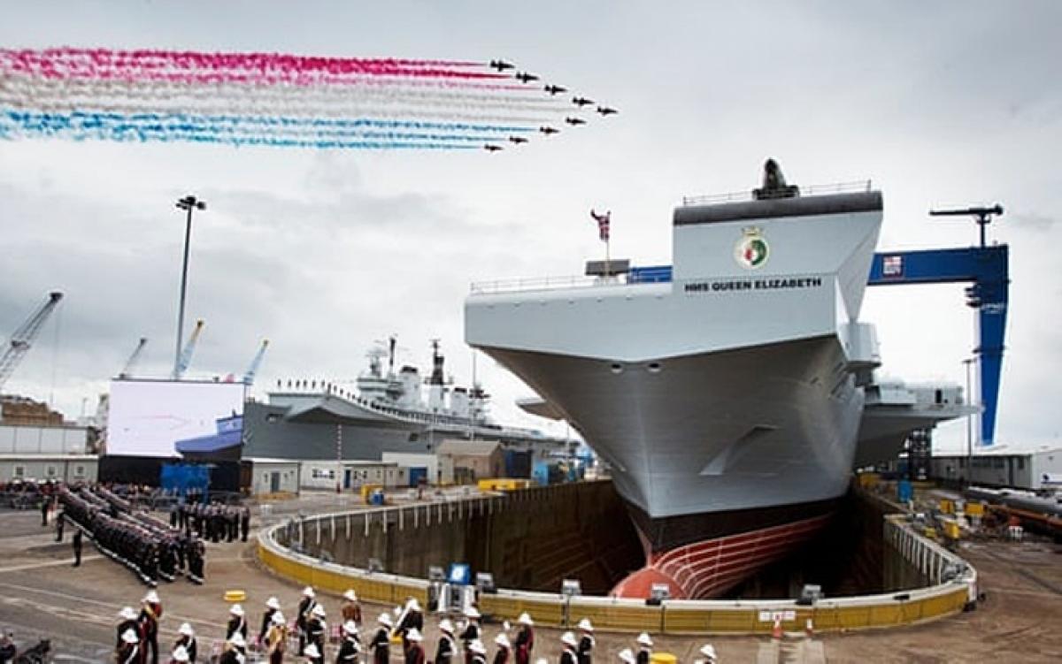 Tàu sân bay mới đóng của Anh. Ảnh: Guardian.