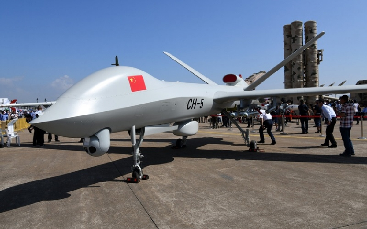 Một chiếc UAV vũ trang của Trung Quốc. Ảnh: Tân Hoa xã.