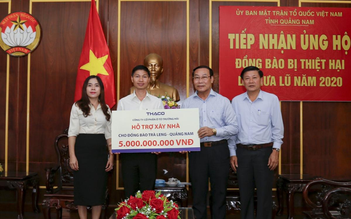 THACO hỗ trợ xây dựng lại ngôi làng cho đồng bào Trà Leng - Quảng Nam