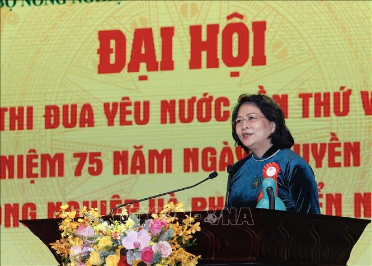 Phó Chủ tịch nước Đặng Thị Ngọc Thịnh phát biểu chỉ đạo. Ảnh: TTXVN