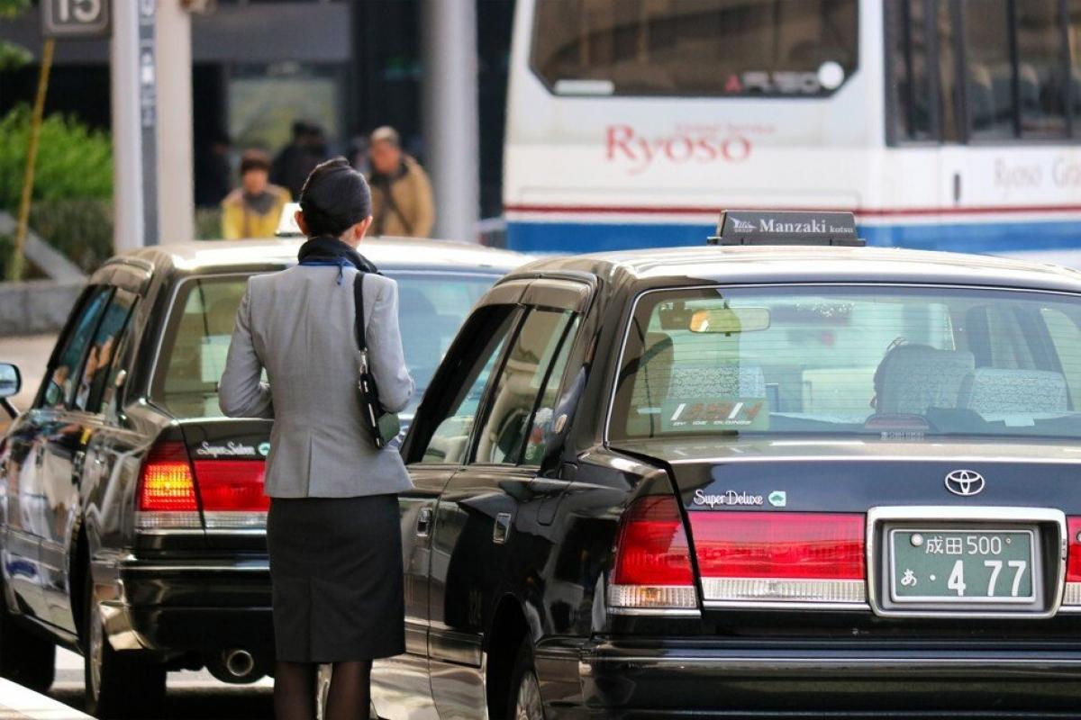 Taxi ở sân bay Narita (Nhật Bản) có cước phí đắt nhất thế giới. Nguồn: Shutterstock