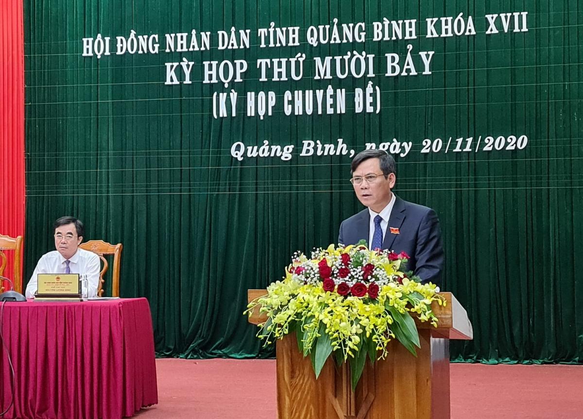 Ông Trần Thắng được bầu giữ chức vụ Chủ tịch UBND tỉnh Quảng Bình.