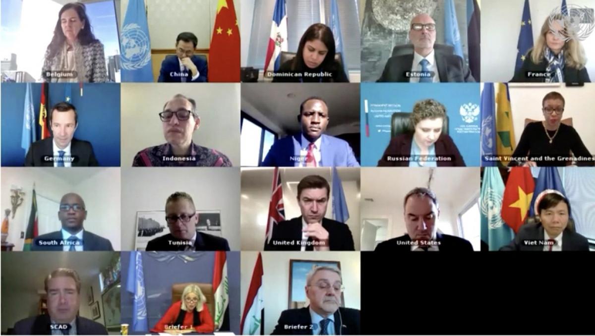 Phiên họp Hội đồng Bảo an Liên Hợp Quốc về tình hình Iraq.