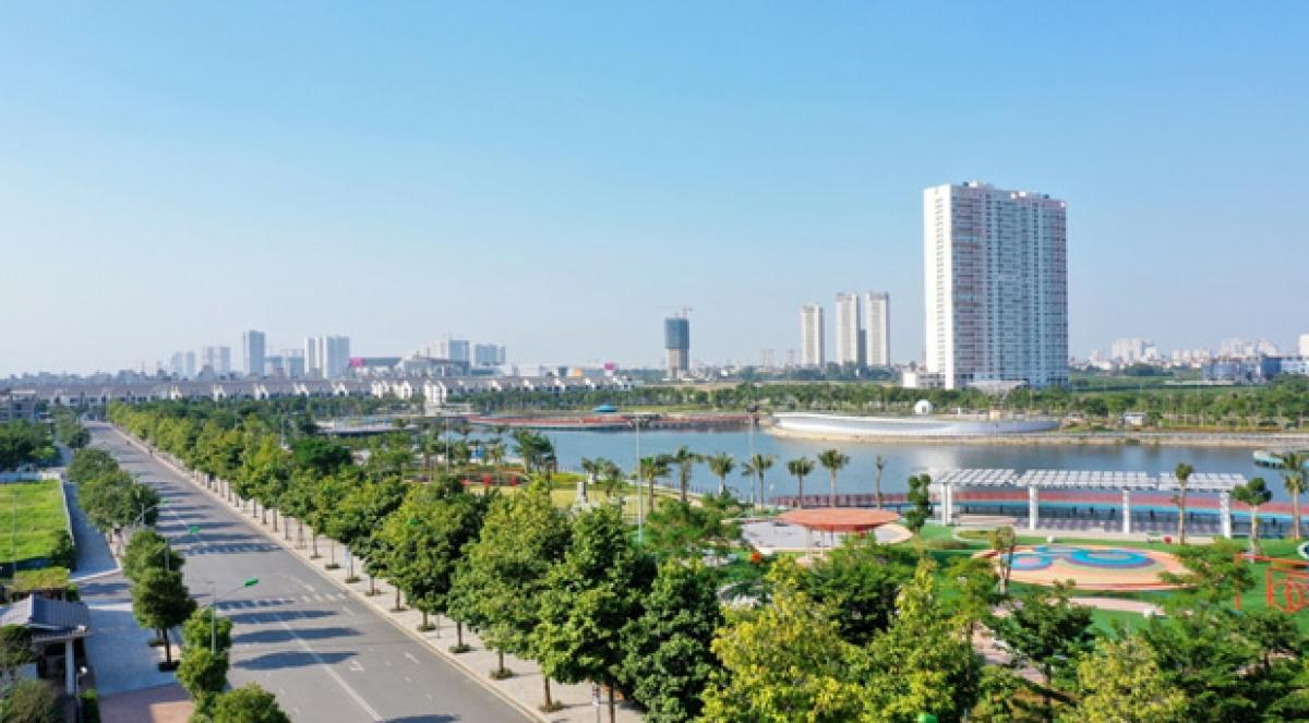 Một góc không gian sống tại Khu đô thị Dương Nội