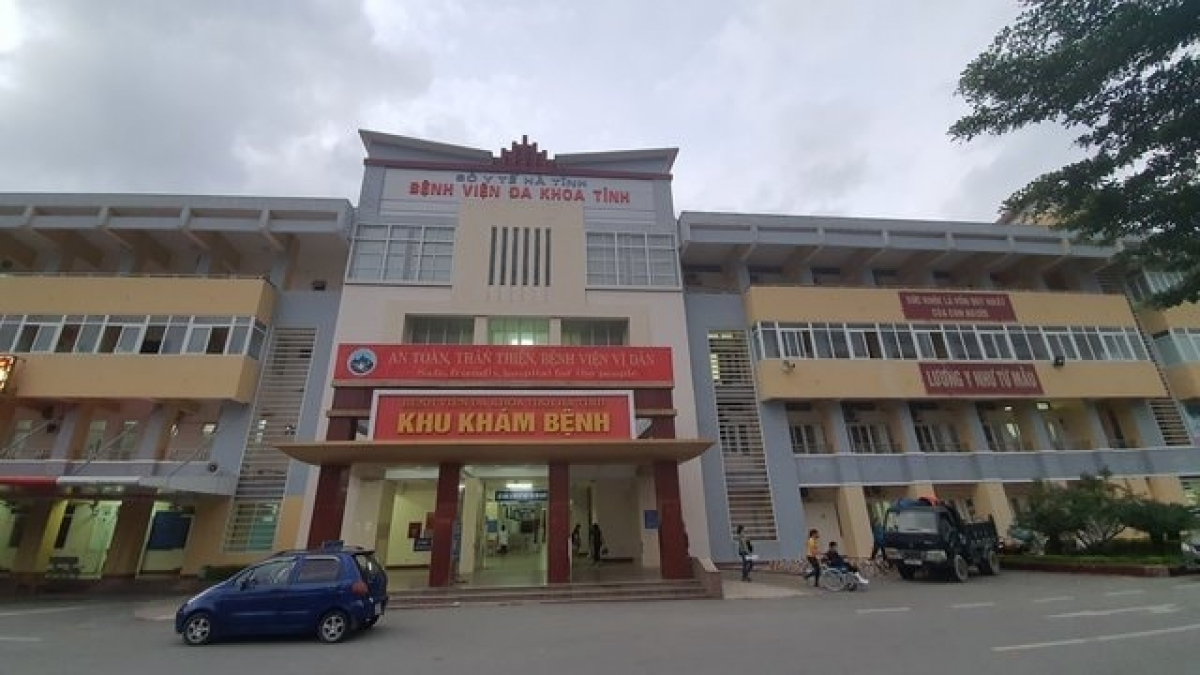 Bệnh viện đa khoa Hà Tĩnh nơi xảy ra sự việc.