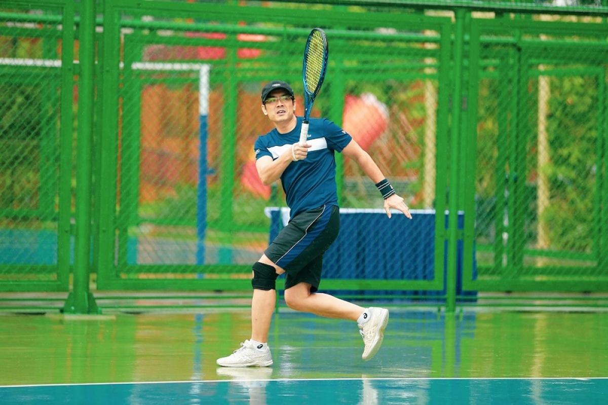 Hàng chục sân tennis được quy hoạch trong nội khu Vinhomes Ocean Park tạo điều kiện rèn luyện hàng ngày trước trận đấu cho các vận động viên