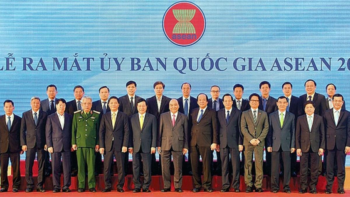 Lễ ra mắt Ủy ban Quốc gia ASEAN 2020. (Ảnh TGVN)