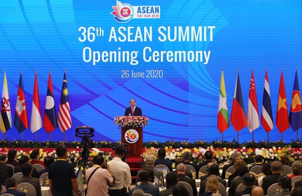 Thủ tướng Chính phủ Nguyễn Xuân Phúc phát biểu tại Lễ khai mạc Hội nghị Cấp cao ASEAN lần thứ 36.