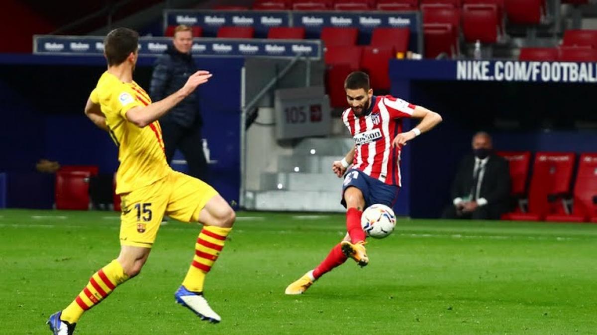 Yannick Carrasco ghi bàn thắng duy nhất của trận đấu (Ảnh: Reuters).