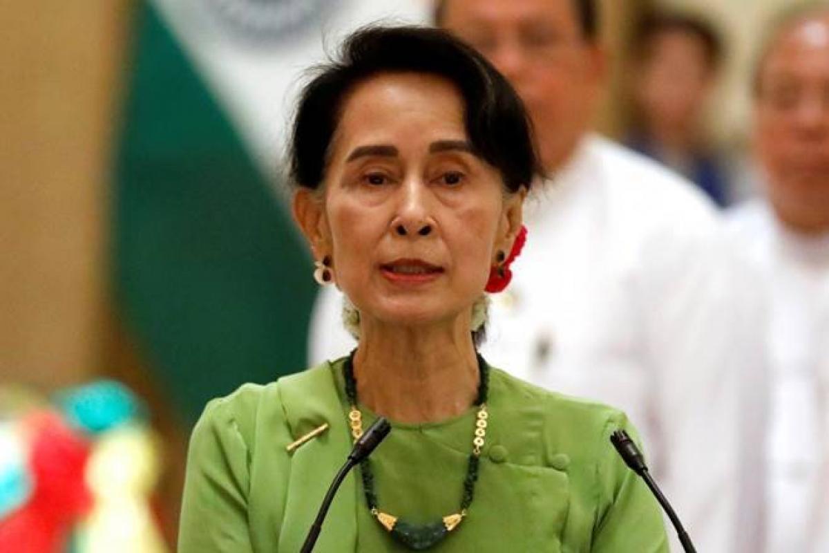 Nhà lãnh đạo Aung San Suu Kyi. Ảnh: Reuters