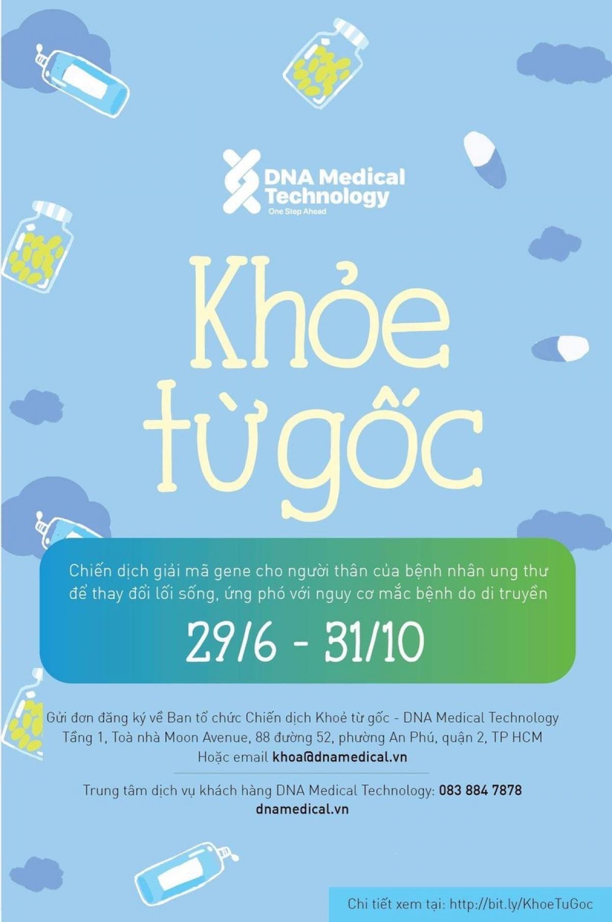 Chiến dịch Khỏe Từ Gốc giúp nâng cao nhận thức của người dân Việt Nam về nguy cơ ung thư từ di truyền.