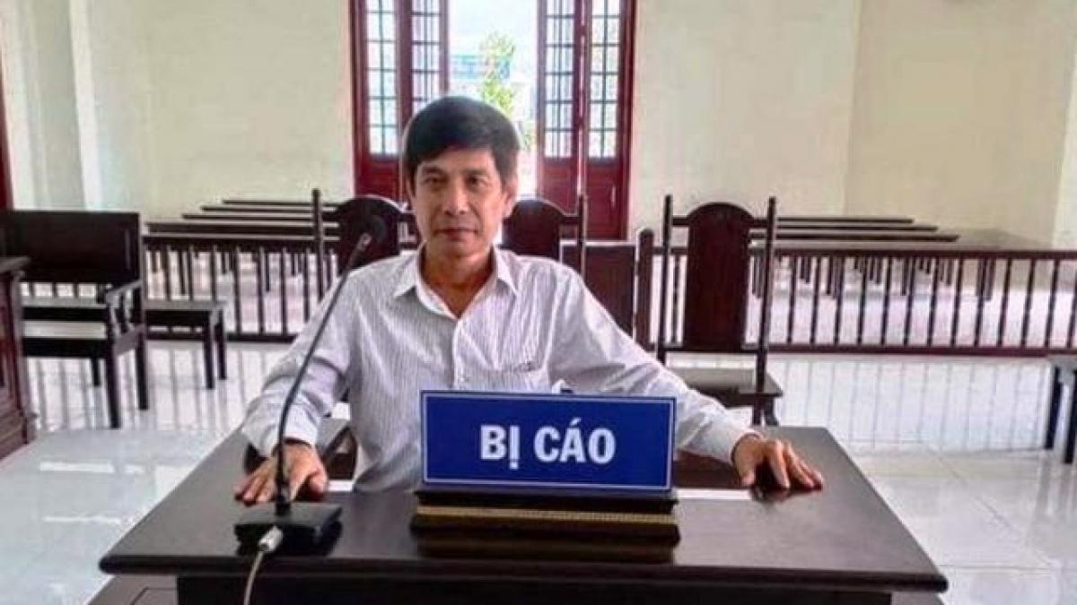 Ông Lương Hữu Phước khi xét xử tại tòa.