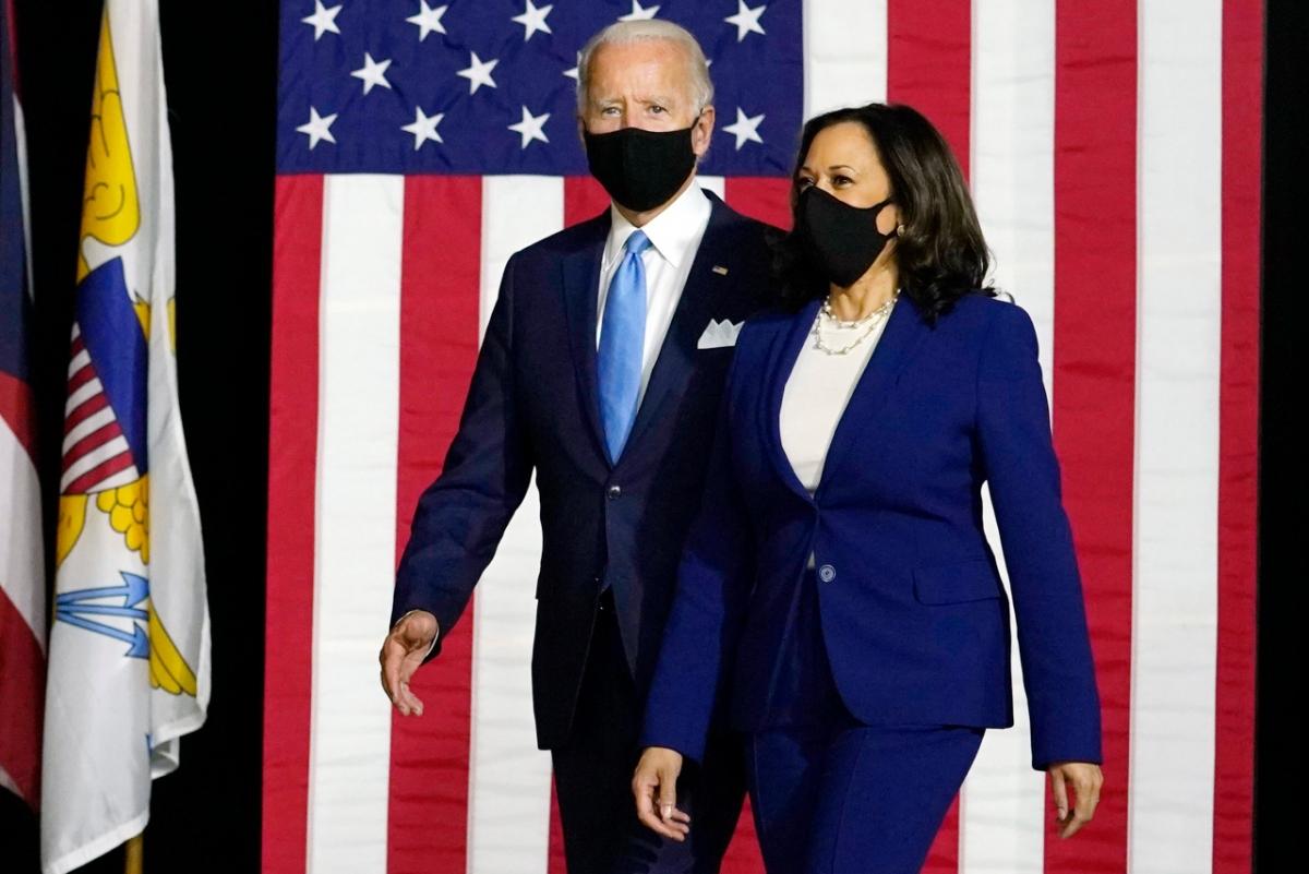 Ông Joe Biden và bà Kamala Harris. Ảnh: AP.