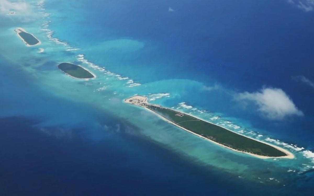 Khu vực quần đảo Hoàng Sa mà Trung Quốc chiếm đóng trái phép của Việt Nam. Ảnh: AFP.