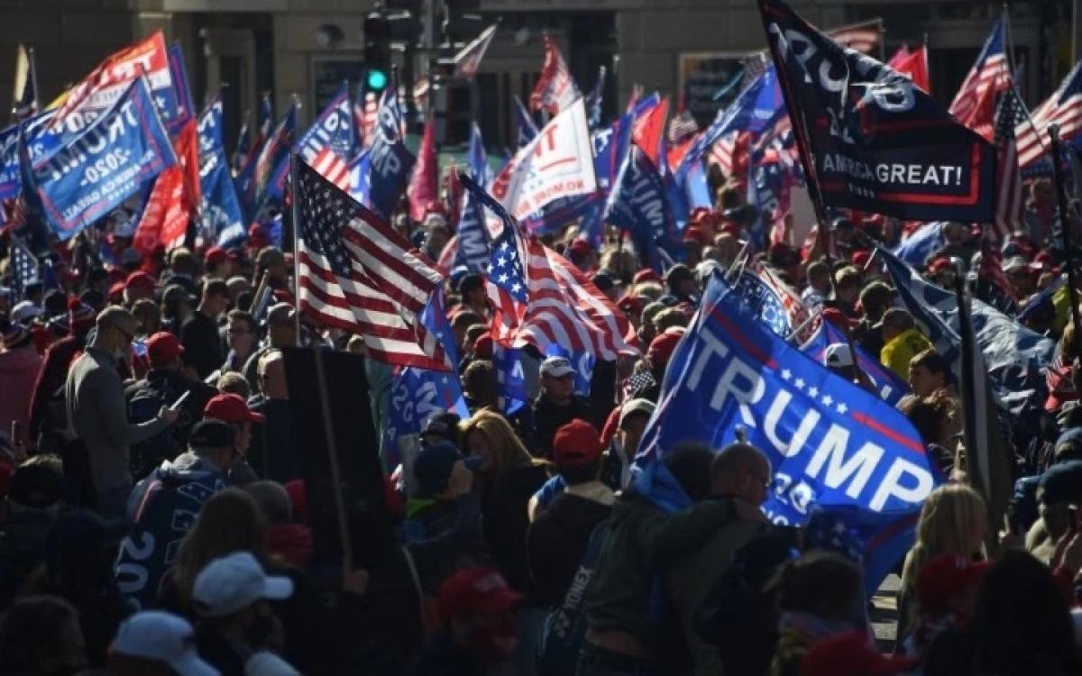 Biểu tình ủng hộ ông Trump. Ảnh: AFP.