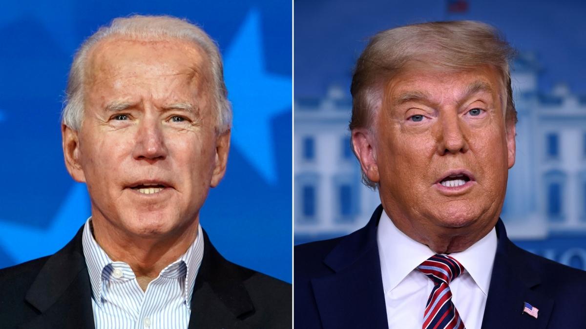 Ứng viên đảng Dân chủ Joe Biden và Tổng thống Donald Trump. Ảnh: AP