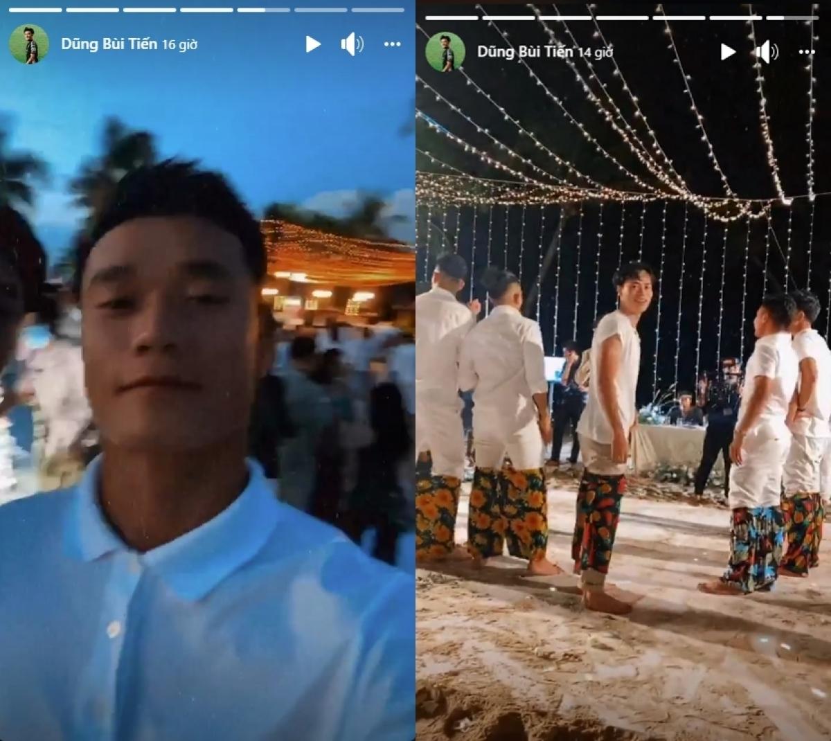 Thủ môn Bùi Tiến Dũng làm thỏa lòng người hâm mộ khi chia sẻ khá nhiều khoảnh khắc tại đám cưới Công Phượng trên trang cá nhân. (Ảnh: FB Bùi Tiến Dũng)
