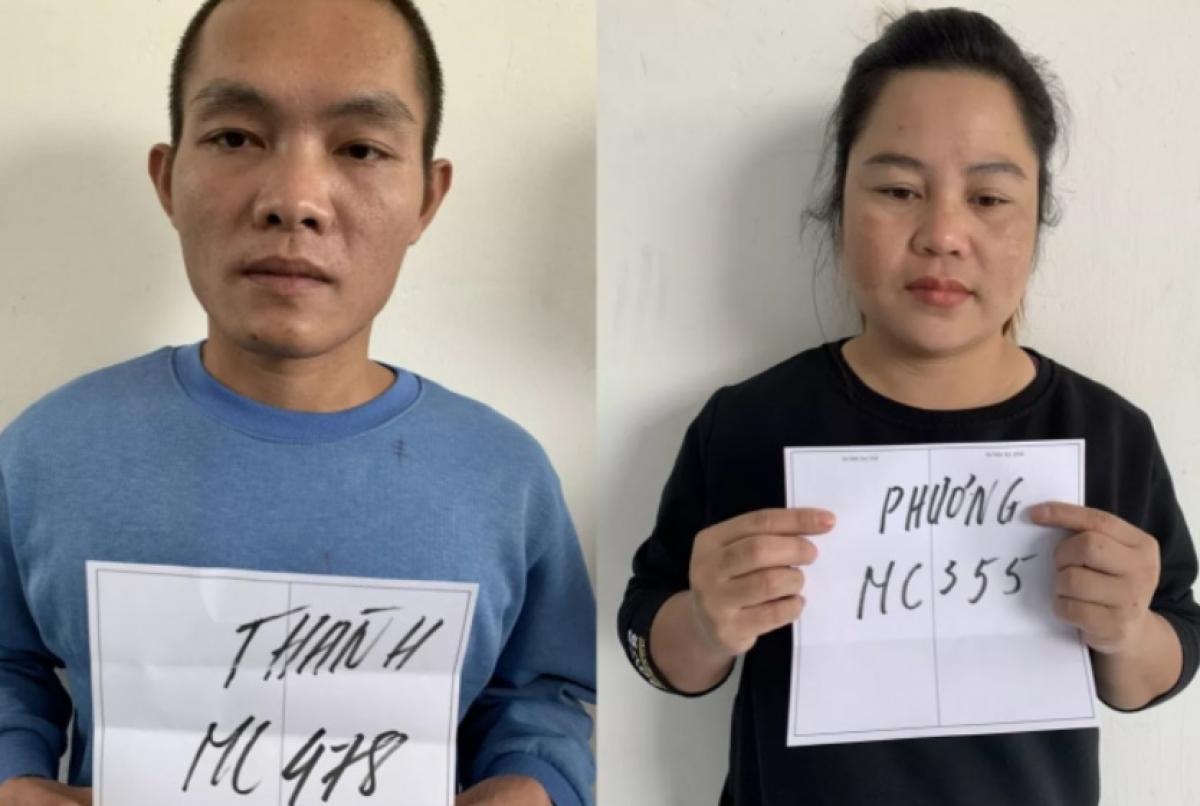 Đối tượng bị truy nã Lê Văn Thành và Lò Thị Phương
