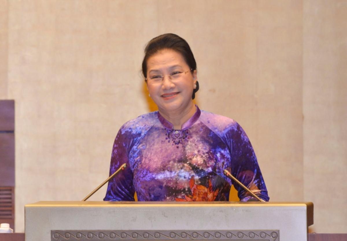 Chủ tịch Quốc hội phát biểu tại cuộc gặp mặt
