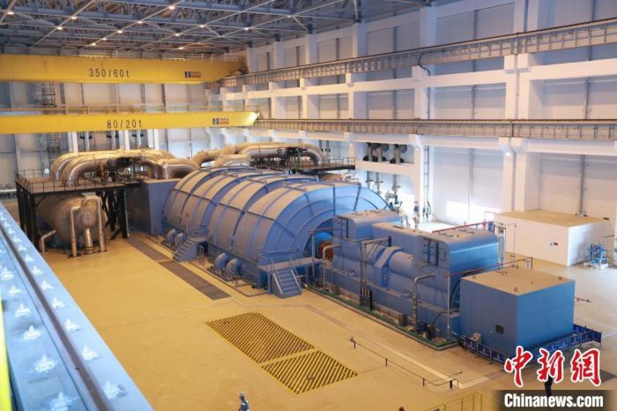 Tổ máy số 5 Nhà máy điện hạt nhân Phúc Thanh phát điện hòa lưới thành công. Ảnh: Chinanews.
