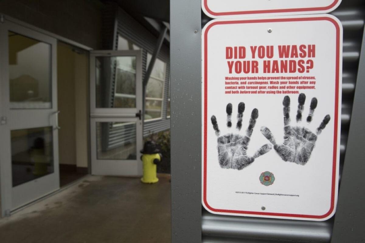 Biển báo rửa tay tại Tiểu bang Washington. (Ảnh: AFP/Getty)
