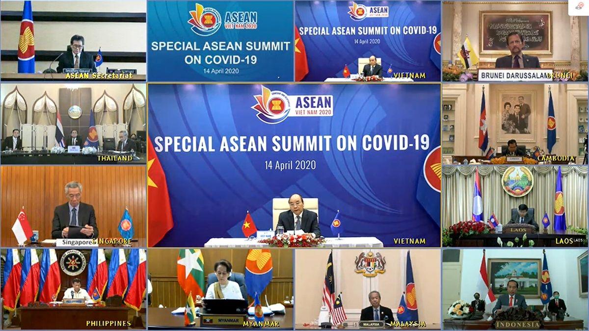 Tình hình dịch bệnh Covid-19 được lãnh đạo các nước ASEAN hết sức quan tâm và tổ chức cả một hội nghị đặc biệt về vấn đề này.