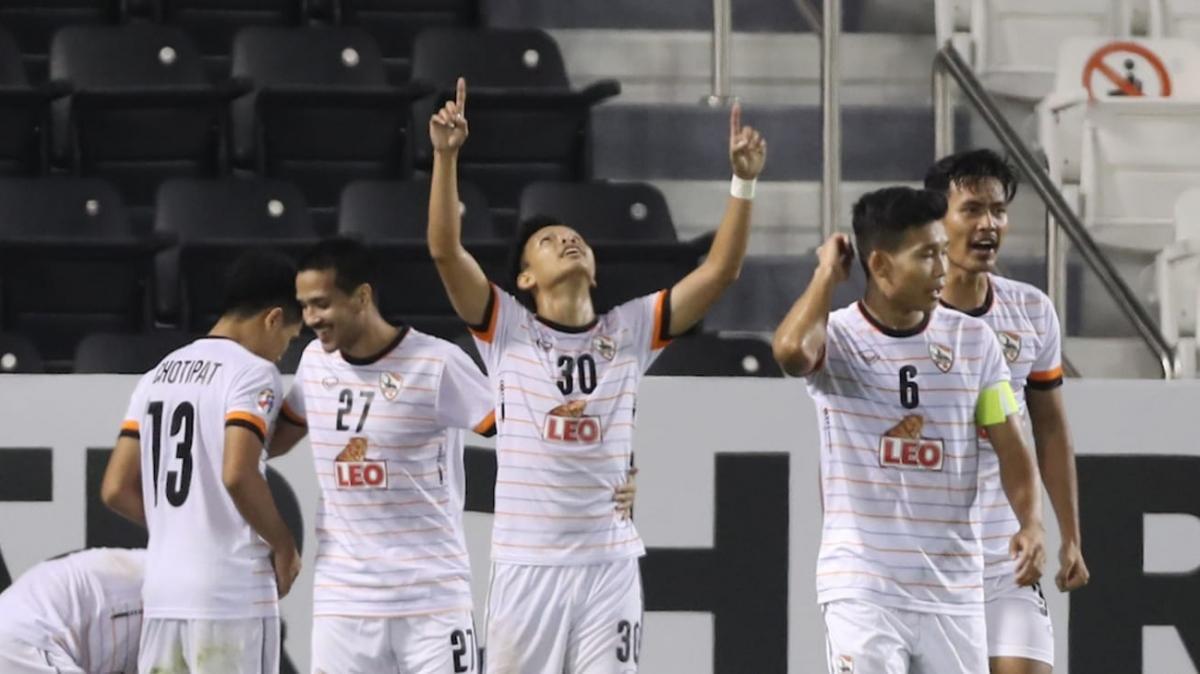 Các cầu thủ Chiangrai United ăn mừng chiến thắng. (Ảnh: AFC)