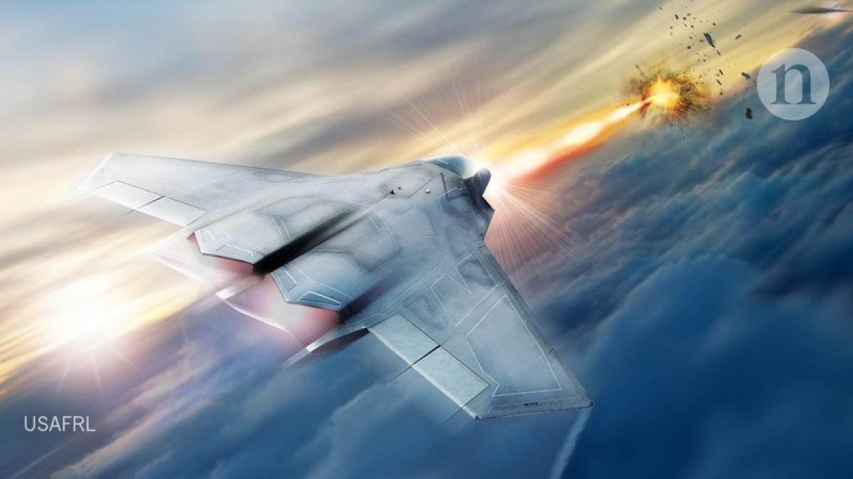 Mô phỏng cuộc tấn công bằng vũ khí laser. Ảnh: USAFRL.