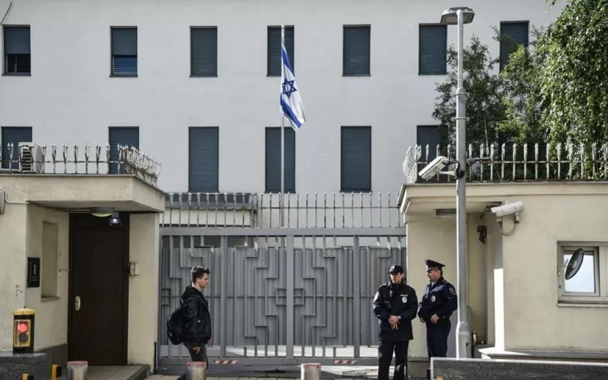 Đại sứ quán Israel ở Nga. Ảnh: AFP.