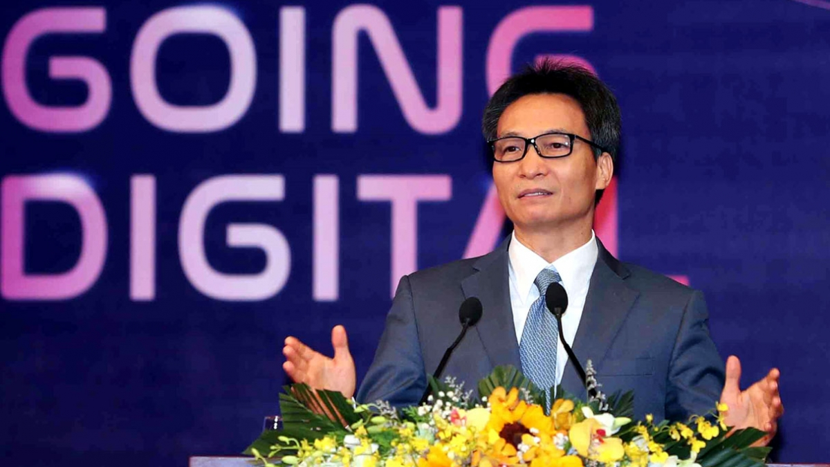 Phó Thủ tướng Chính phủ Vũ Đức Đam phát biểu tại Diễn đàn Quỹ đầu tư Khởi nghiệp Sáng tạo Việt Nam 2020. Ảnh: VGP