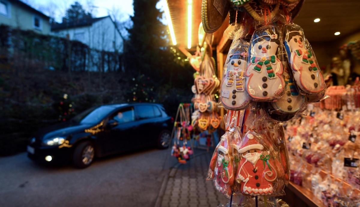 Một chủ nhà hàng tại Unterbrunn gần Munich đã quyết định mở một khu chợ Giáng sinh đặc biệt trong lúc nước Đức đang phong tỏa một phần do đại dịch Covid-19. Ảnh: CGTN
