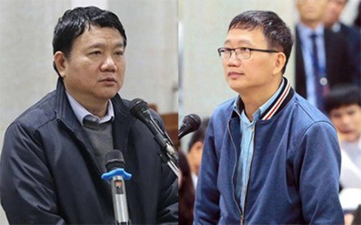 Bị can Đinh La Thăng và Trịnh Xuân Thanh