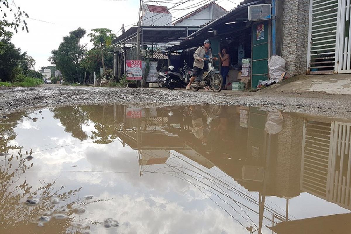 Đường dân sinh ở huyện Bình Sơn (Quảng Ngãi) sau khi dự án cao tốc Đà Nẵng - Quảng Ngãi mượn để thi công dự án.