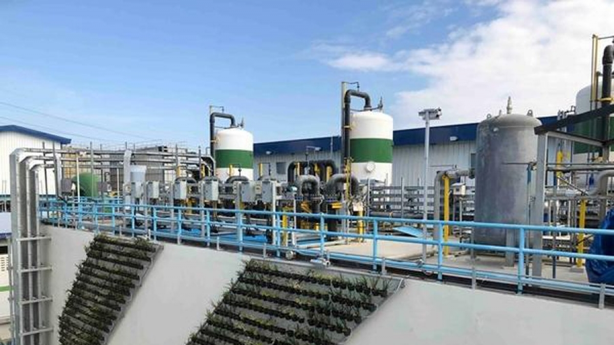 A water treatment facility is built and operated by ACCIONA