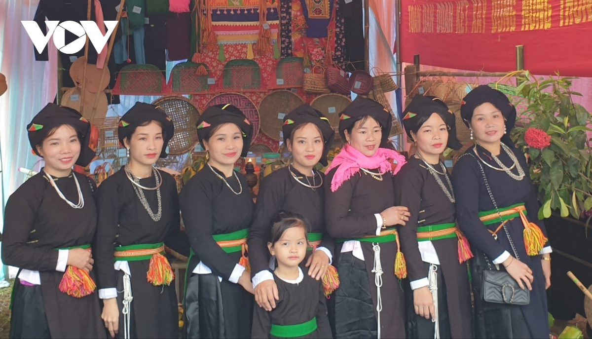 Local women don their traditional outfits while taking part in some of the activities being held as part of the festival.
