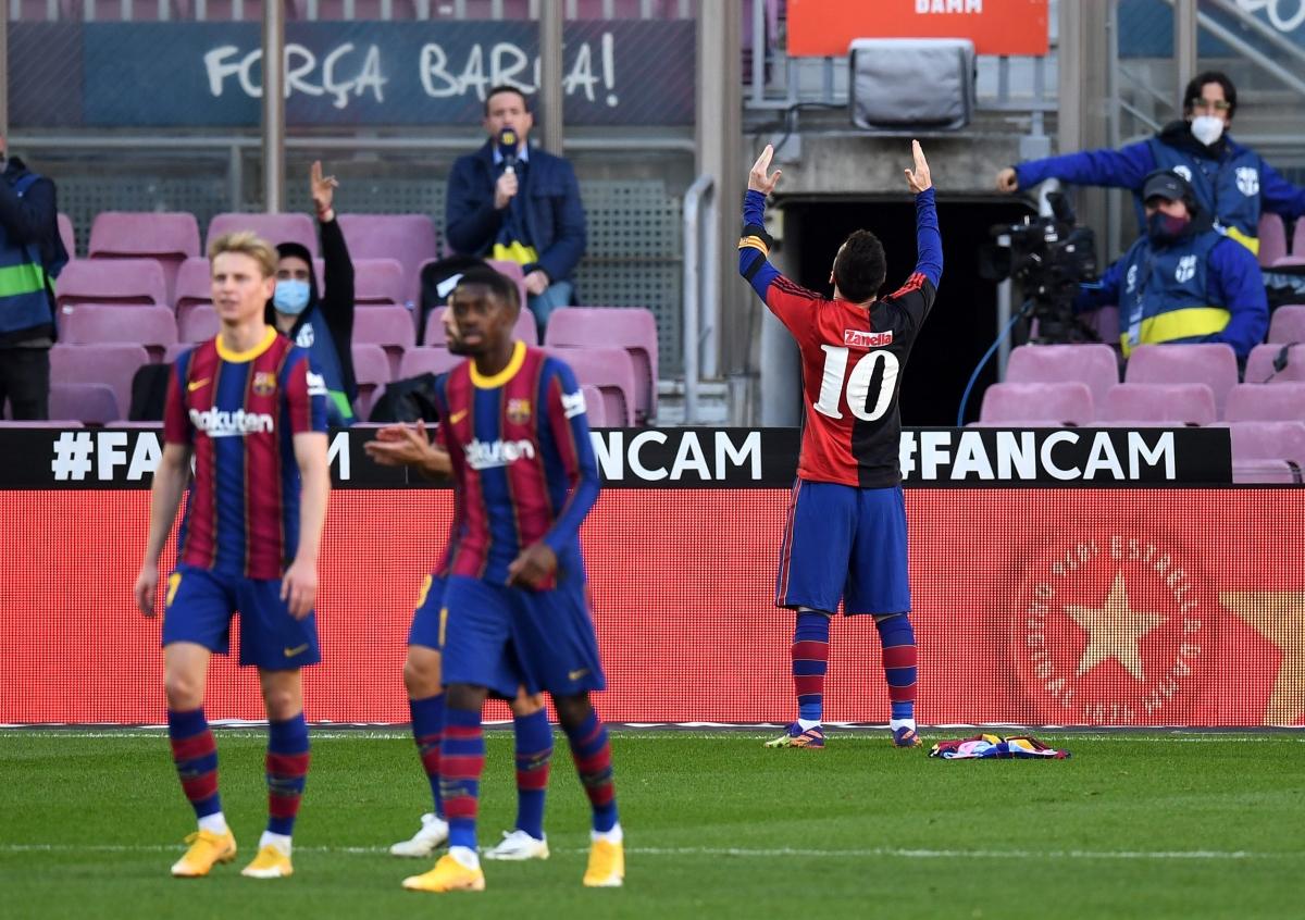 Barca đã tạm thời vươn lên nửa trên BXH của La Liga. (Ảnh: Getty).